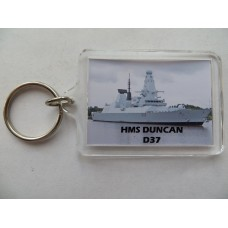 HMS DUNCAN D37 KEYRING/FRIDGE MAGNET/BOTTLE OPENER