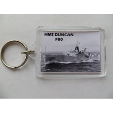 HMS DUNCAN F80 KEYRING/FRIDGE MAGNET/BOTTLE OPENER