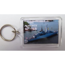 HMS ALACRITY F174 KEYRING/FRIDGE MAGNET/BOTTLE OPENER