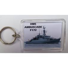 HMS AMBUSCADE F172 KEYRING/FRIDGE MAGNET/BOTTLE OPENER