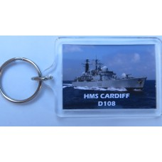 HMS CARDIFF D108 KEYRING/FRIDGE MAGNET/BOTTLE OPENER
