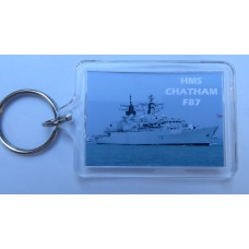 HMS CHATHAM F87 KEYRING/FRIDGE MAGNET/BOTTLE OPENER