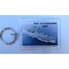 HMS DEVONSHIRE D02 KEYRING/FRIDGE MAGNET/BOTTLE OPENER
