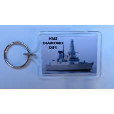 HMS DIAMOND D34 KEYRING/FRIDGE MAGNET/BOTTLE OPENER