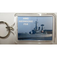 HMS HERMIONE F58  69-80 KEYRING/FRIDGE MAGNET/BOTTLE OPENER