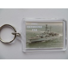 HMS HERMIONE F58 83-92 KEYRING/FRIDGE MAGNET/BOTTLE OPENER