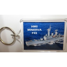 HMS MINERVA F45  66-75 KEYRING/FRIDGE MAGNET/BOTTLE OPENER