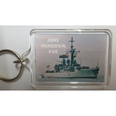 HMS MINERVA F45 79-92 KEYRING/FRIDGE MAGNET/BOTTLE OPENER