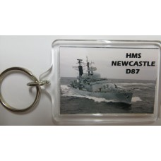 HMS NEWCASTLE D87 KEYRING/FRIDGE MAGNET/BOTTLE OPENER