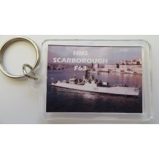 HMS SCARBOROUGH F63 KEYRING/FRIDGE MAGNET/BOTTLE OPENER