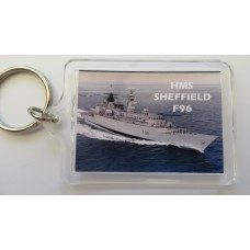 HMS SHEFFIELD F96 KEYRING/FRIDGE MAGNET/BOTTLE OPENER