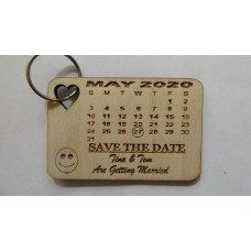 PERSONALISED WEDDING SAVE THE DATE KEYRING