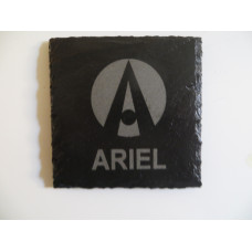 ARIEL ATOM Car Logo COASTER ARIEL ATOM Car Lovers Gift Natural Slate