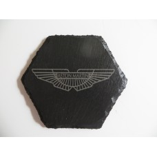 ASTON MARTIN Car Logo COASTER ASTON MARTIN Car Lovers Gift Natural Slate
