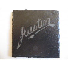 AUSTIN Car Logo COASTER AUSTIN Car Lovers Gift Natural Slate