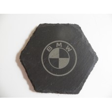 BMW Car Logo COASTER BMW Car Lovers Gift Natural Slate