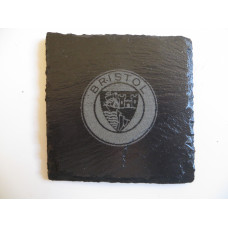 BRISTOL Car Logo COASTER BRISTOL Car Lovers Gift Natural Slate