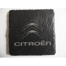 CITROEN Car Logo COASTER CITROEN Car Lovers Gift Natural Slate