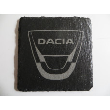 DACIA Car Logo COASTER DACIA Car Lovers Gift Natural Slate
