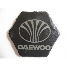 DAEWOO Car Logo COASTER DAEWOO Car Lovers Gift Natural Slate