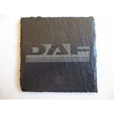 DAF Car Logo COASTER DAF Car Lovers Gift Natural Slate