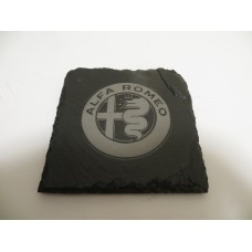 ALFA ROMEO Car Logo COASTER ALF ROMEO Car Lovers Gift Natural Slate