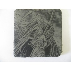 GRIM REAPER 3 SQUARE SLATE COASTER FOR ANY OCCASION