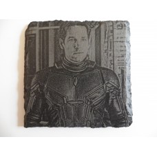 ANTMAN LASER ENGRAVED  ON A SLATE COASTER