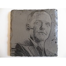 COULSON LASER ENGRAVED  ON A SLATE COASTER