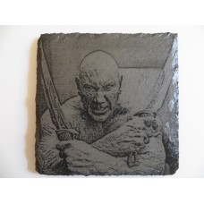 DRAX LASER ENGRAVED  ON A SLATE COASTER