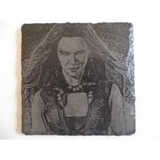 GAMORA LASER ENGRAVED  ON A SLATE COASTER