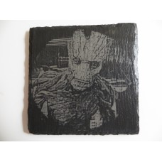 ADULT GROOT LASER ENGRAVED  ON A SLATE COASTER