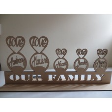OUR FAMILY LOVE NAME STAND 2+3