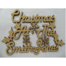 CHRISTMAS AT THE (DOUBLE SURNAME)