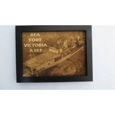 RFA FORT VICTORIA LASER ENGRAVED PHOTOGRAPH