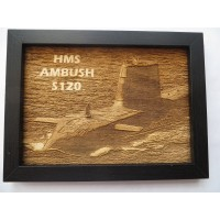 HMS AMBUSH S120 LASER ENGRAVED PHOTOGRAPH