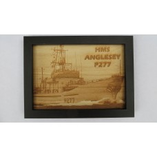 HMS ANGLESEY P227 LASER ENGRAVED PHOTOGRAPH