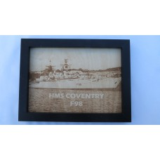 HMS COVENTRY F98 LASER ENGRAVED PHOTOGRAPH