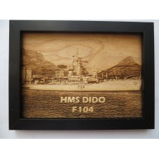 HMS DIDO F104 63-75 LASER ENGRAVED PHOTOGRAPH