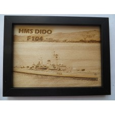 HMS DIDO F104 76-81 LASER ENGRAVED PHOTOGRAPH