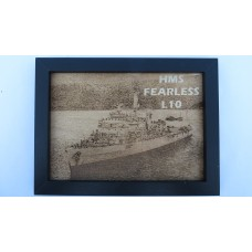 HMS FEARLESS L10 LASER ENGRAVED PHOTOGRAPH