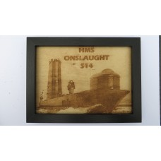 HMS ONSLAUGHT S14 LASER ENGRAVED PHOTOGRAPH