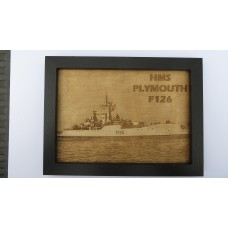 HMS PLYMOUTH F126 LASER ENGRAVED PHOTOGRAPH