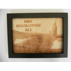 HMS RESOLUTION S22 LASER ENGRAVED PHOTOGRAPH