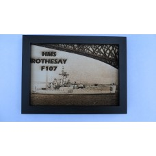 HMS ROTHESAY  107 LASER ENGRAVED PHOTOGRAPH