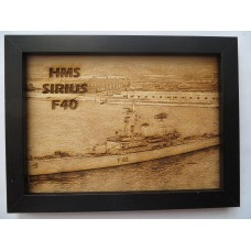HMS SIRIUS F40 66-75 LASER ENGRAVED PHOTOGRAPH