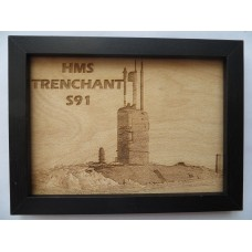 HMS TRENCHANT S91 LASER ENGRAVED PHOTOGRAPH