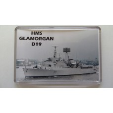 HMS GLAMORGAN D19 (75-86) KEYRING/FRIDGE MAGNET/BOTTLE OPENER
