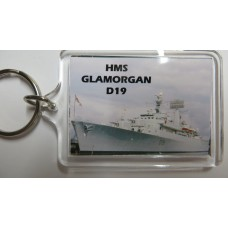 HMS GLAMORGAN D19 66-74 KEYRING/FRIDGE MAGNET/BOTTLE OPENER