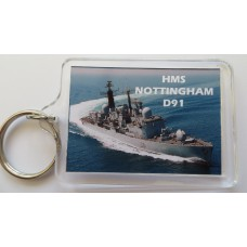 HMS NOTTINGHAM D91 KEYRING/FRIDGE MAGNET/BOTTLE OPENER